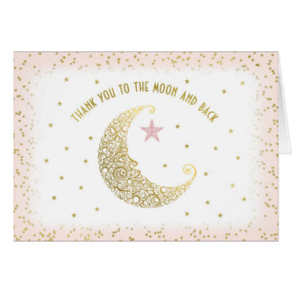 Thank You Moon and Back Twinkle Little Star Pink Card
