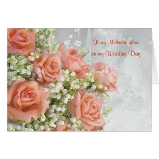 Thank you Mother-in-Law. Roses, lily of the valley Greeting Card