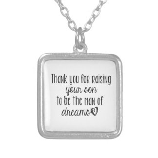 thank you, mother in law. silver plated necklace