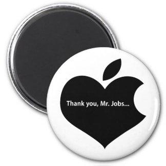 THANK YOU MR JOBS 6 CM ROUND MAGNET