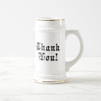 Thank You 18 Oz Beer Stein