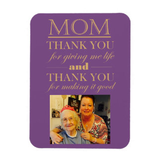 Thank You Mum Mother's Day Photo Magnet