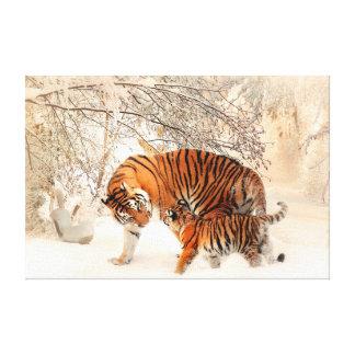 Thank you Mum Tiger and Cub Canvas Print