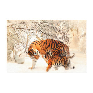 Thank you Mum Tiger and Cub Gallery Wrap Canvas