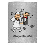 Thank You Music Wedding Reception Greeting Card