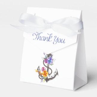 Thank You Nautical Ship Anchor Floral Wedding Favour Box