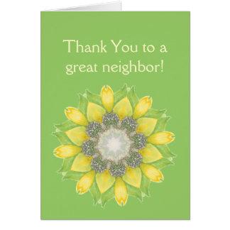 Thank You Neighbor,Custom Flower Garden Floral Card