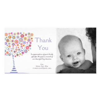 Thank You New Baby Arrival Gift Photocard Photo Card Template