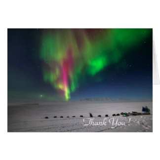 Thank You, Northern Greenland Borealis - Note Card