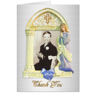 Thank you note Angel frame First Communion Note Card