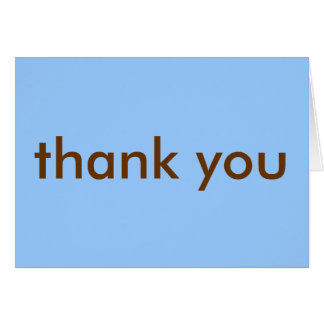 Thank You Note - Blue/Brown Card