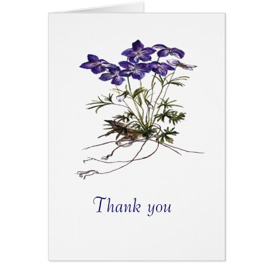 Thank you note botanical flower card