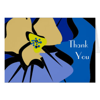 THANK YOU note card_BLUE PANSY Greeting Card