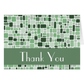 Thank You Note Card (Cobblestone Green)