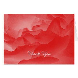 Thank You Note Card, Coral Rose, Custom Inside Note Card