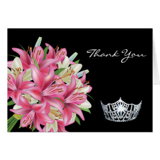 Thank You Note Card-Crown & Lillies Card