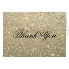 Thank You Note Card - Gold Glitter Fab