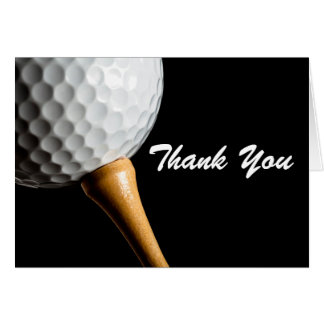 Thank You Note Card Man Golf Birthday