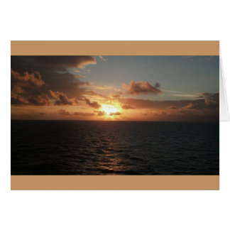 Thank you note card warmest thanks ocean sunset