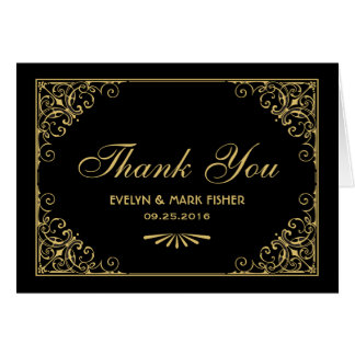 Thank You Note Cards | Art Deco Style