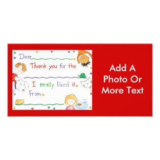 Thank You Note Custom Photo Card