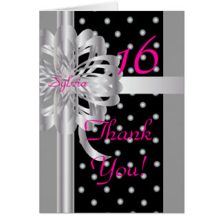 Thank You Note For A Sweet Sixteen-Customize Card