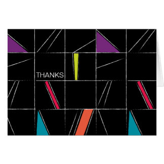 Thank You Note Modern Graphic Look Card