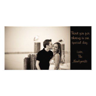 Thank you note picture card