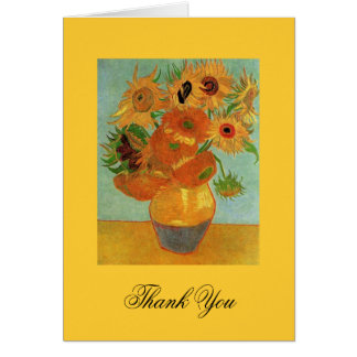 thank you note Vincent van Gogh Sunflowers Greeting Card