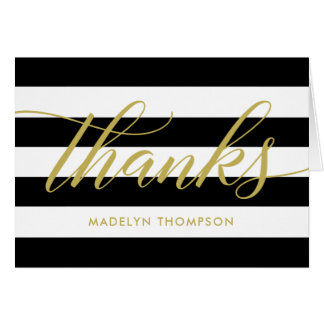 Thank You Notes | Black and White Stripes