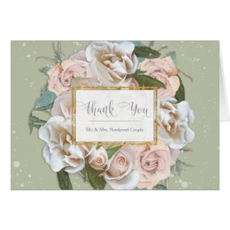 Thank You Notes Bride Bridal Shower Elegant Roses