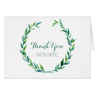 Thank You Notes Laurel Wreath Olive Leaf Wedding