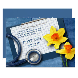 Thank You Nurse. Customizable Greeting Cards 13 Cm X 18 Cm Invitation Card
