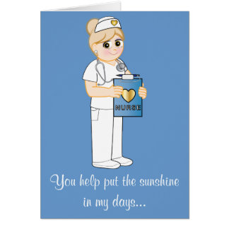 Thank You Nurse Sunshine Card