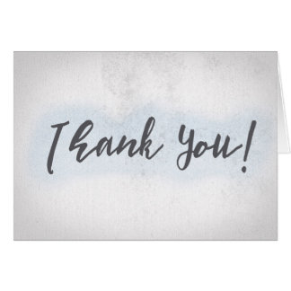 Thank You on blue textured background Card