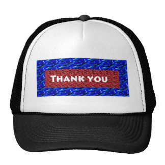 Thank you on shirts cap