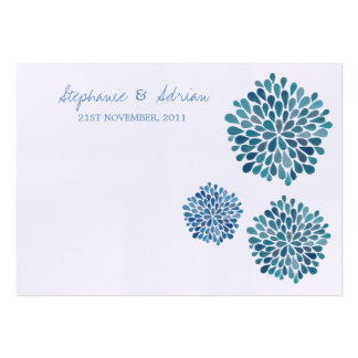 Thank You or Table Place Cards Blue Petal Blooms Business Card Templates