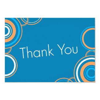 Thank You - Orange & Blue 13 Cm X 18 Cm Invitation Card