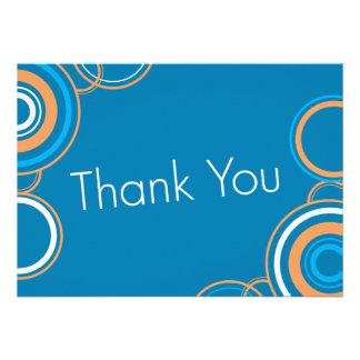Thank You - Orange & Blue Custom Invitation