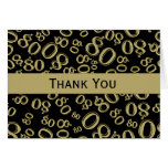 Thank You Over The Hill 80th Birthday Theme Note Card