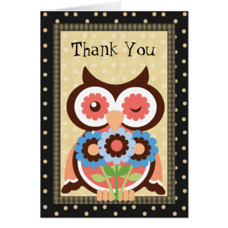 Thank You Owl Greeting card