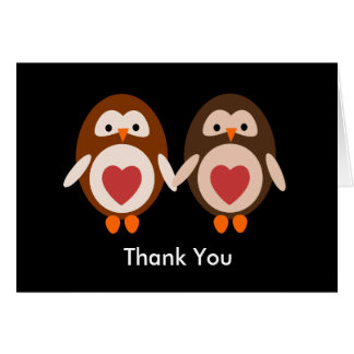 Thank you  Owl Love Greeting Card