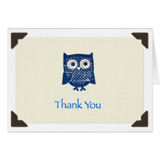 """Thank You"" Owl Notecard"