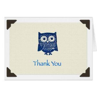 """Thank You"" Owl Notecard Greeting Card"