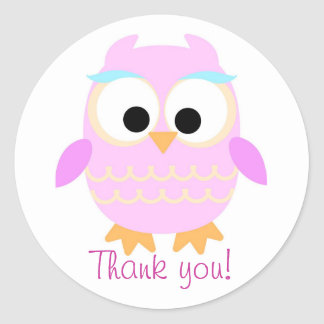 Thank you owl sticker