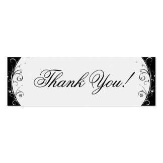 Thank You! Pack Of Skinny Business Cards