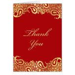 Thank You Paisleys Elegant Indian Folded Card