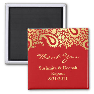 Thank You Paisleys Elegant Indian Magnet