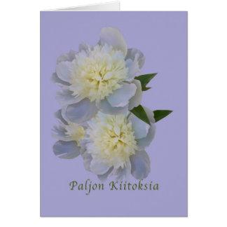 Thank You, Paljon Kiitoksia, Finnish Card