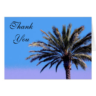 Thank you Palm Tree Greeting Card